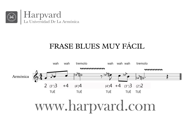 partitura frase blues fácil 2